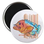 Cartoon Fish Grouper Magnet