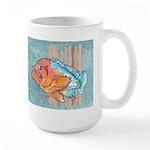 Cartoon Fish Grouper Large Mug