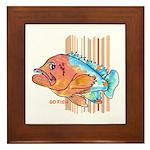 Cartoon Fish Grouper Framed Tile