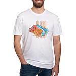 Cartoon Fish Grouper Fitted T-Shirt