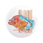 """Cartoon Fish Grouper 3.5"""" Button (100 pack)"""