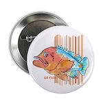 """Cartoon Fish Grouper 2.25"""" Button (100 pack)"""