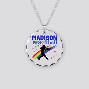 PERSONALIZE SOFTBALL Necklace Circle Charm