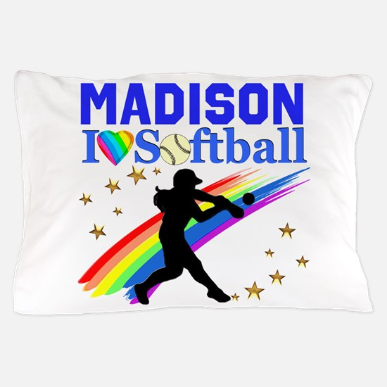 PERSONALIZE SOFTBALL Pillow Case