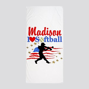 PERSONALIZE SOFTBALL Beach Towel