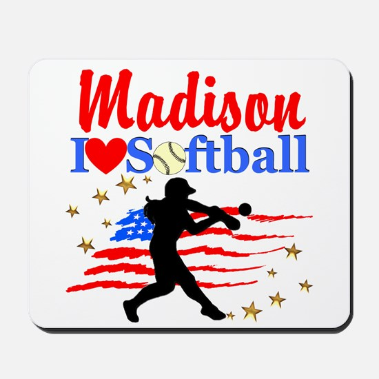 PERSONALIZE SOFTBALL Mousepad