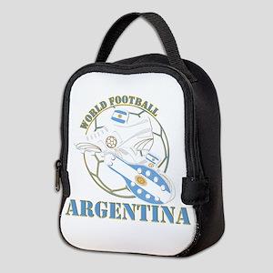 Argentina world soccer football Neoprene Lunch Bag