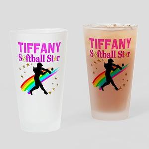 PERSONALIZE SOFTBALL Drinking Glass