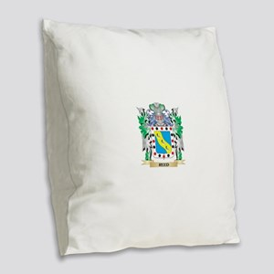 Reed Coat of Arms - Family Cre Burlap Throw Pillow