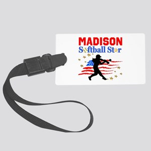 PERSONALIZE SOFTBALL Large Luggage Tag