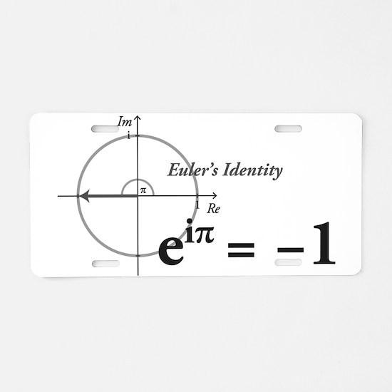 Cute Math Aluminum License Plate