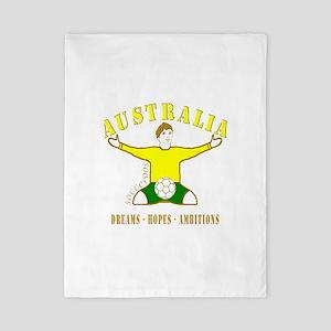 Australia footballer celebration soccer Twin Duvet
