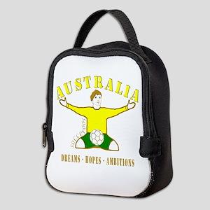 Australia footballer celebratio Neoprene Lunch Bag