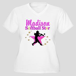 PERSONALIZE SOFTB Women's Plus Size V-Neck T-Shirt