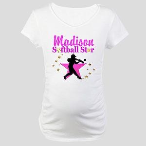 PERSONALIZE SOFTBALL Maternity T-Shirt