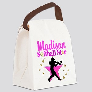 PERSONALIZE SOFTBALL Canvas Lunch Bag