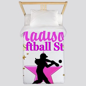 PERSONALIZE SOFTBALL Twin Duvet