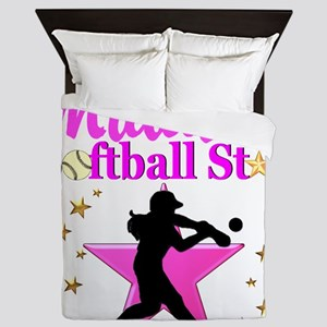 PERSONALIZE SOFTBALL Queen Duvet