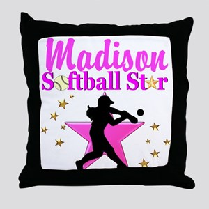 PERSONALIZE SOFTBALL Throw Pillow