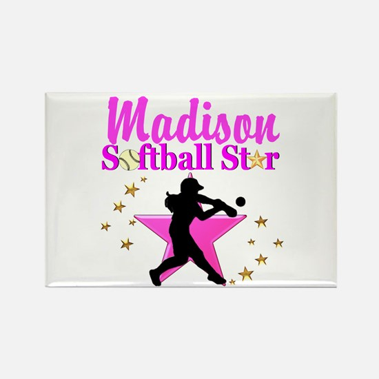 PERSONALIZE SOFTBALL Rectangle Magnet
