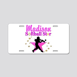 PERSONALIZE SOFTBALL Aluminum License Plate