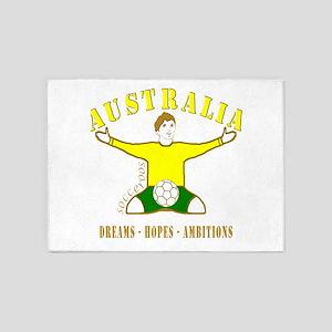 Australia footballer celebration so 5'x7'Area Rug