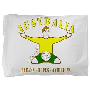 Australia footballer celebration socce Pillow Sham