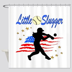 SOFTBALL STAR Shower Curtain