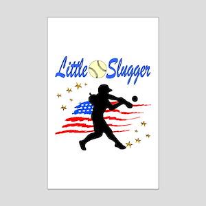 SOFTBALL STAR Mini Poster Print