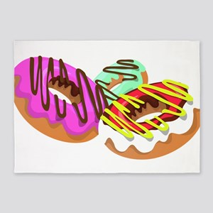 Doughnuts 5'x7'Area Rug