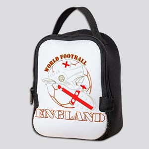 England UK world football socce Neoprene Lunch Bag