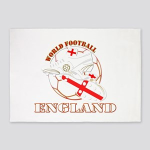 England UK world football soccer 5'x7'Area Rug