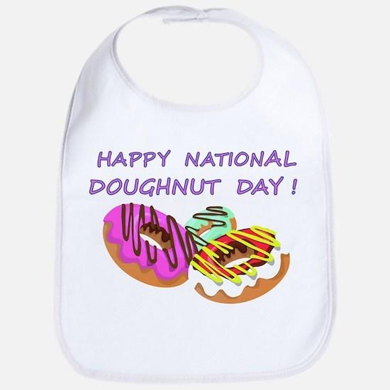 Happy Doughnuts Day Bib