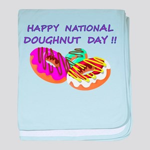 Happy Doughnuts Day baby blanket