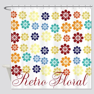 Cute Bright Floral Shower Curtain