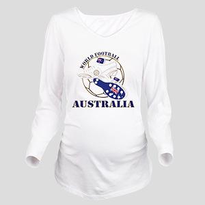 Australia world foot Long Sleeve Maternity T-Shirt