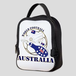 Australia world football soccer Neoprene Lunch Bag
