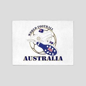 Australia world football soccer 5'x7'Area Rug