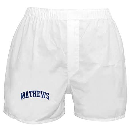 MATHEWS design (blue) Boxer Shorts