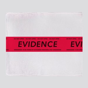 Red evidence tape Throw Blanket