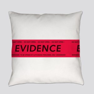 Red evidence tape Everyday Pillow