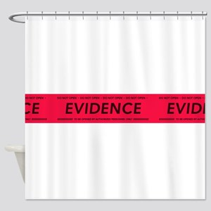 Red evidence tape Shower Curtain