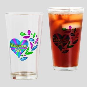 Veterinarians Care Drinking Glass