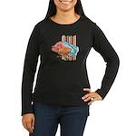 Cartoon Fish Grouper Women's Long Sleeve Dark T-Sh
