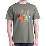 Cartoon Fish Grouper Dark T-Shirt