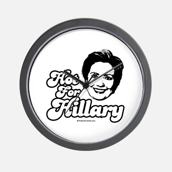 Hot for Hillary Wall Clock