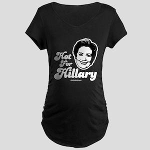 Hot for Hillary Maternity Dark T-Shirt
