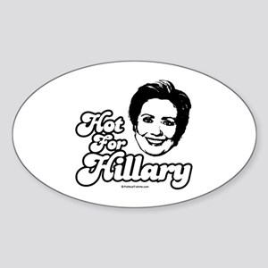 Hot for Hillary Oval Sticker