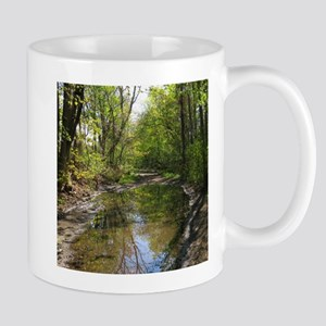 Wet watery trail scene Mug