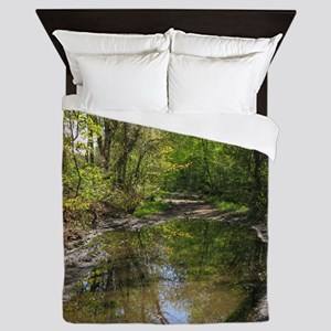 Wet watery trail scene Queen Duvet